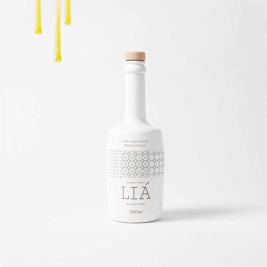 LIÁ Premium Extra Virgin Olive Oil.  First in the world and In your heart.